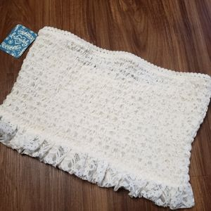 NWT Free People Ivory Lace Bandeau Bralette Top